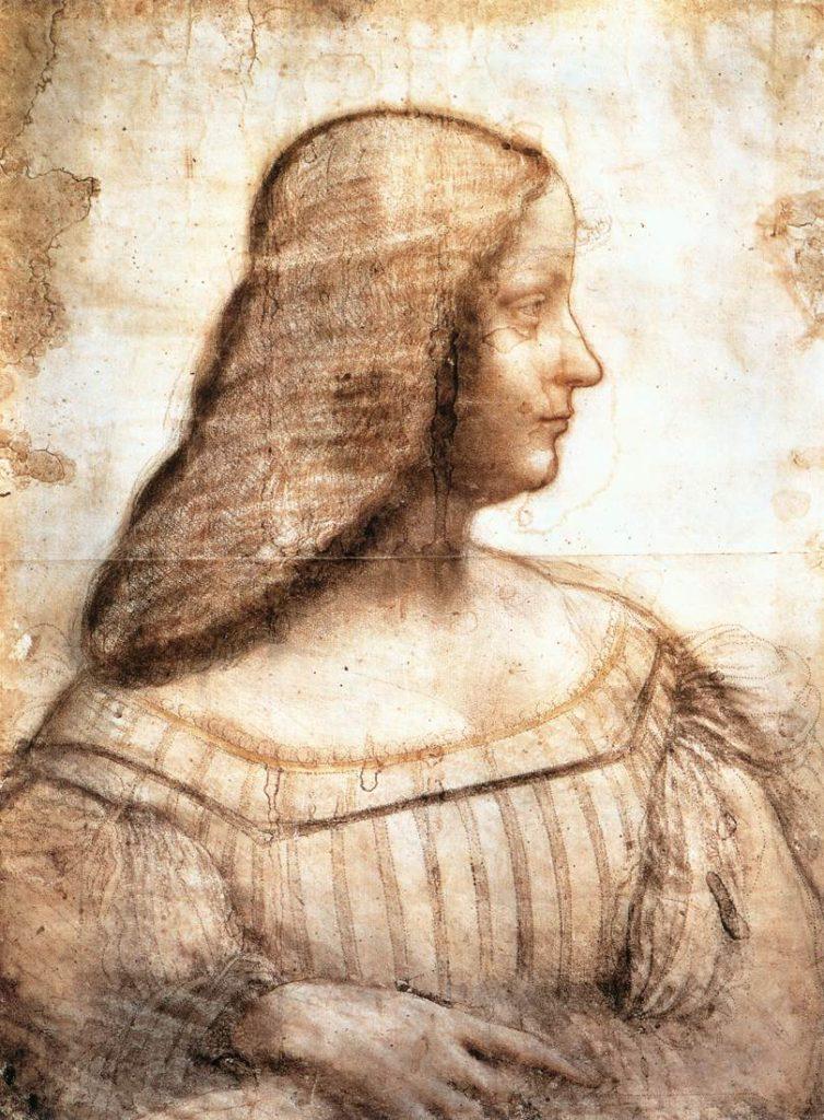 Leonardo Da Vinci, Ritratto di Isabella d'Este