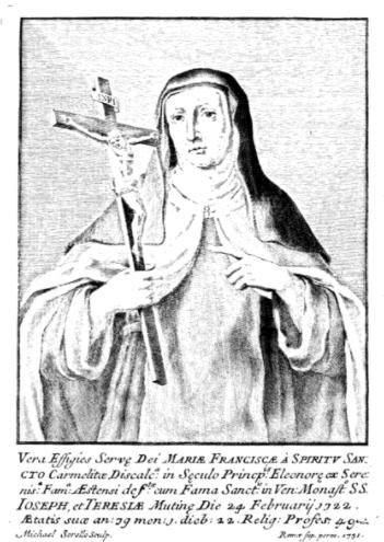Donne di Casa d'Este. Mariafrancesca dello Spirito Santo, al secolo Eleonora