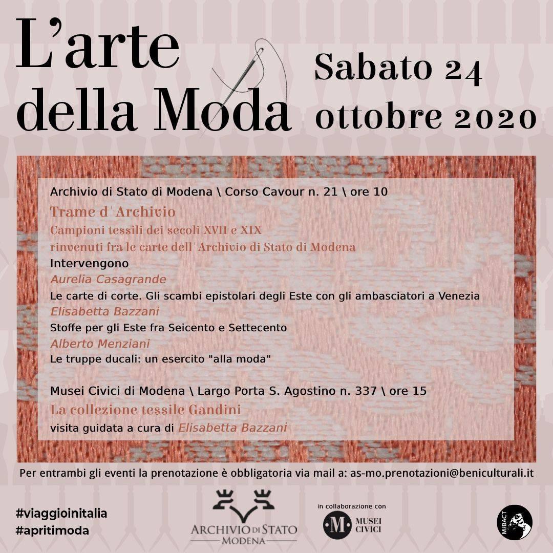 Trame d'Archivio. Campioni tessili dei secoli XVII e XIX <br>rinvenuti fra le carte dell'Archivio di Stato di Modena